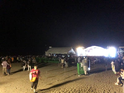 MUNAKATA Music Festival Stage - 花火前の撮影規制解除を待って撮影